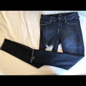 Just Black Ripped Jeans - Dark Wash